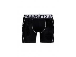 ICEBREAKER Mens Anatomica Zone Boxers, Black/White