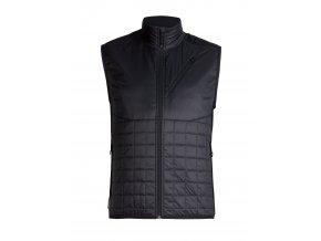 ICEBREAKER Mens Helix Vest, Black/Jet HTHR