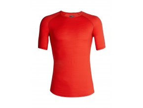 ICEBREAKER Mens 150 Zone SS Crewe, CHILI RED/Monsoon