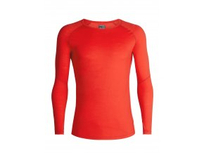 ICEBREAKER Mens 150 Zone LS Crewe, CHILI RED/Monsoon