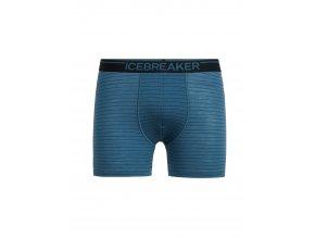 ICEBREAKER Mens Anatomica Boxers, Thunder/Black/Stripe