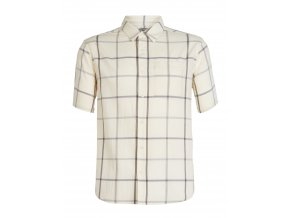 ICEBREAKER Mens Compass SS Shirt, Snow/TIMBERWOLF/Plaid