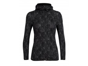 ICEBREAKER Wmns Away LS Zip Hood Showers, Black