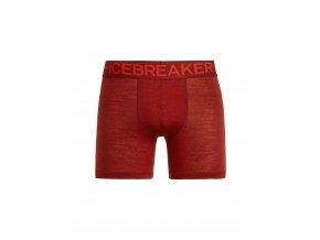 ICEBREAKER Mens Anatomica Zone Boxers, SIENNA/CHILI RED