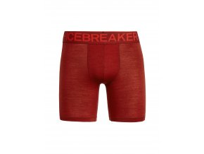 ICEBREAKER Mens Anatomica Zone Long Boxers, SIENNA/CHILI RED