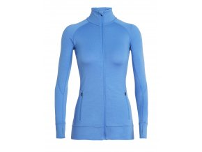 ICEBREAKER Wmns Fluid Zone LS Zip, Cove