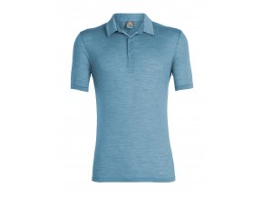 ICEBREAKER Mens Solace SS Polo, Thunder