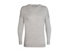 ICEBREAKER Wmns Nova Sweater Sweatshirt, Blizzard HTHR
