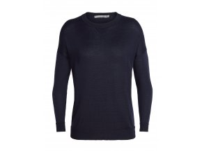 ICEBREAKER Wmns Nova Sweater Sweatshirt, Midnight Navy