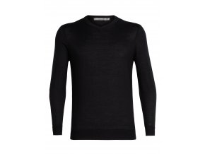 ICEBREAKER Mens Quailburn V Sweater, Black