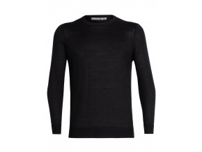 ICEBREAKER Mens Quailburn Crewe Sweater, Black