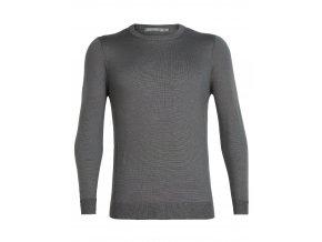ICEBREAKER Mens Quailburn Crewe Sweater, TIMBERWOLF