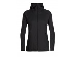 ICEBREAKER Wmns Coriolis II Hooded Windbreaker, Black/Monsoon
