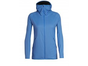 ICEBREAKER Wmns Coriolis II Hooded Windbreaker, Cove/Monsoon