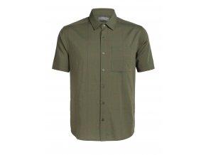 ICEBREAKER Mens Compass SS Shirt, Cypress/DRIFTWOOD (velikost XXL)