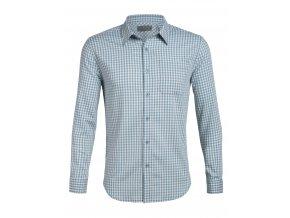ICEBREAKER Mens Compass Flannel LS Shirt, Waterfall/Enamel (velikost XXL)