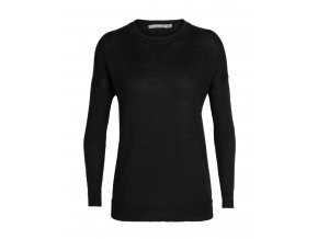 ICEBREAKER Wmns Nova Sweater Sweatshirt, Black (velikost XS)