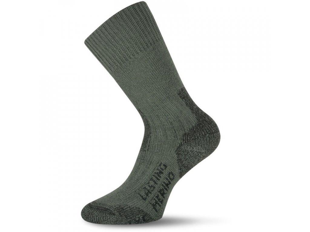 Lasting merino ponožky TXC zelené