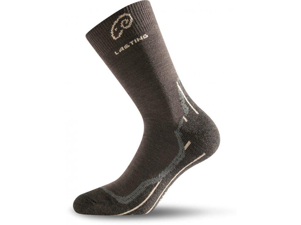 Lasting merino ponožky WHI hnědé