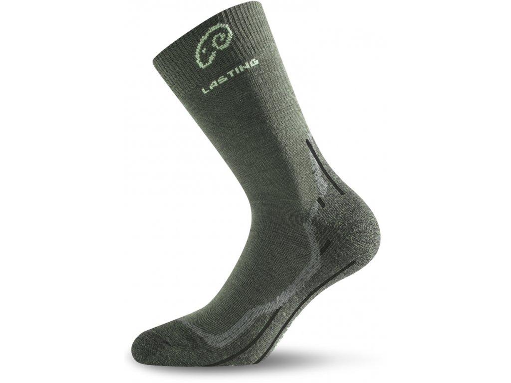 Lasting merino ponožky WHI zelené