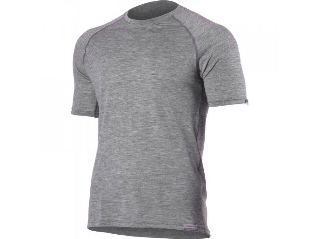 Lasting pánské merino triko QUIDO šedé