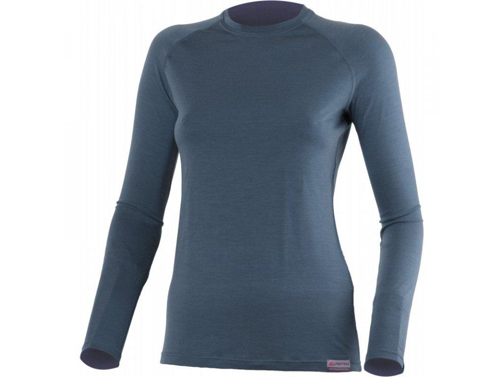 Lasting dámské merino triko ATILA modré