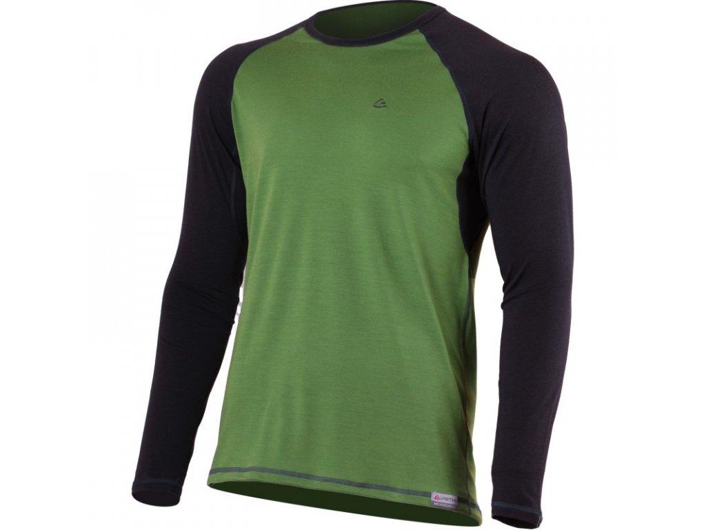 Lasting pánské merino triko MARIO zelené
