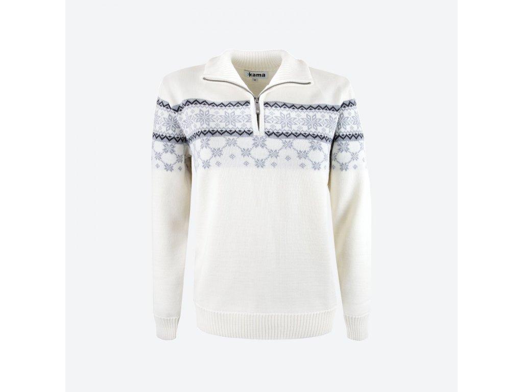 Merino svetr Kama 5007 dámský, přírodní bílá
