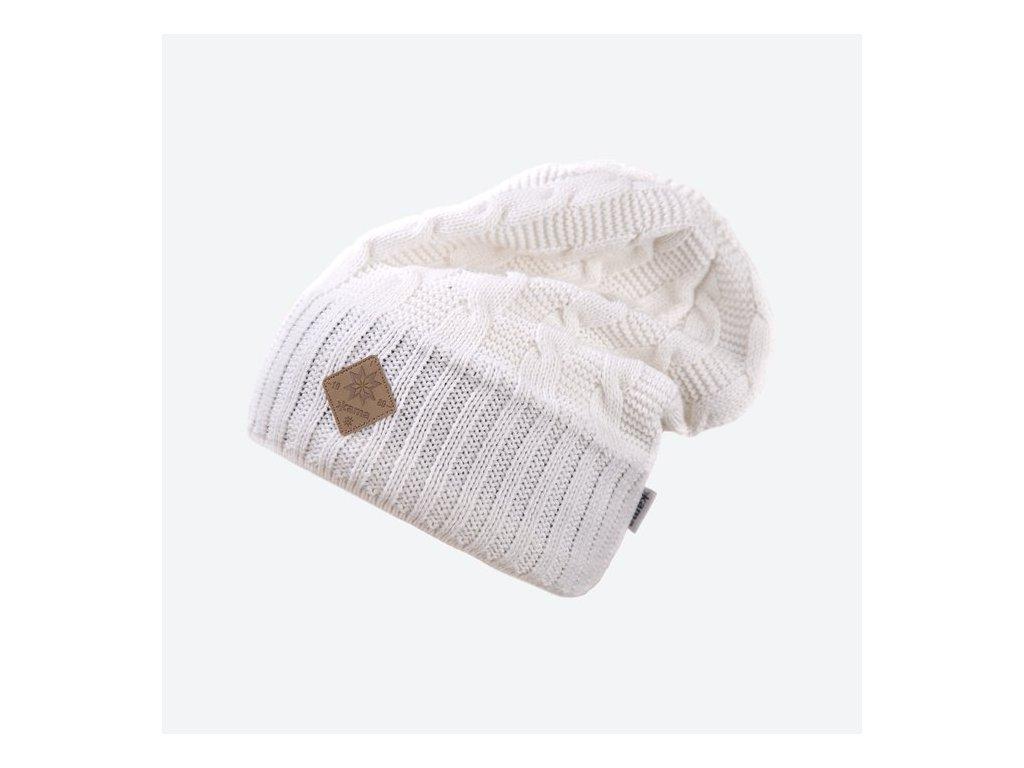 Pletená Merino čepice Kama A107, přírodní bílá