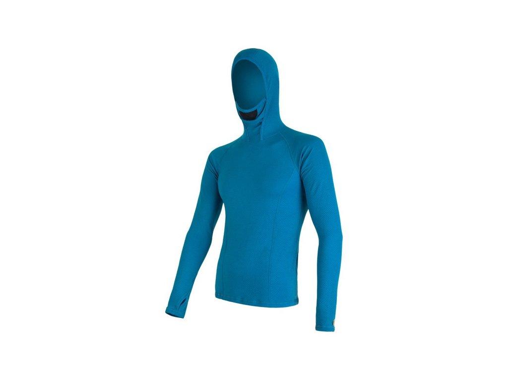 SENSOR MERINO DF pánské triko s kapucí