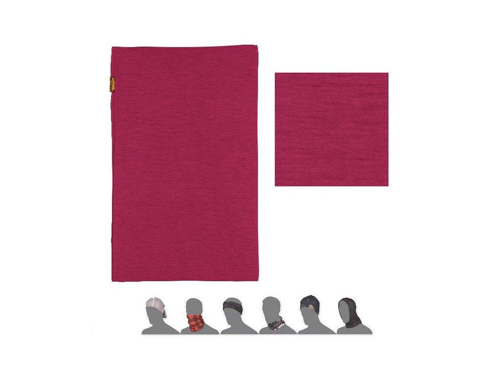 SENSOR TUBE MERINO WOOL multifunkční šátek lilla