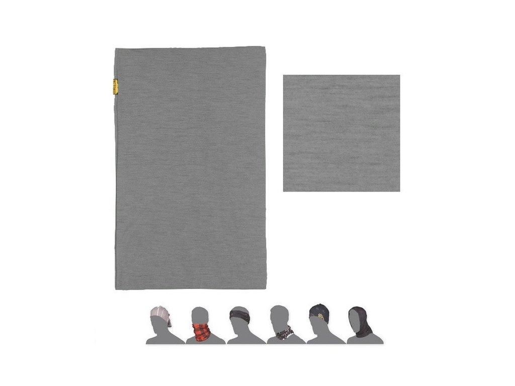 SENSOR TUBE MERINO WOOL multifunkční šátek šedý