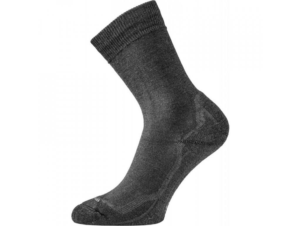 Lasting merino ponožky WHI černé