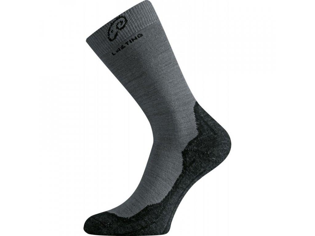 Lasting merino ponožky WHI šedé