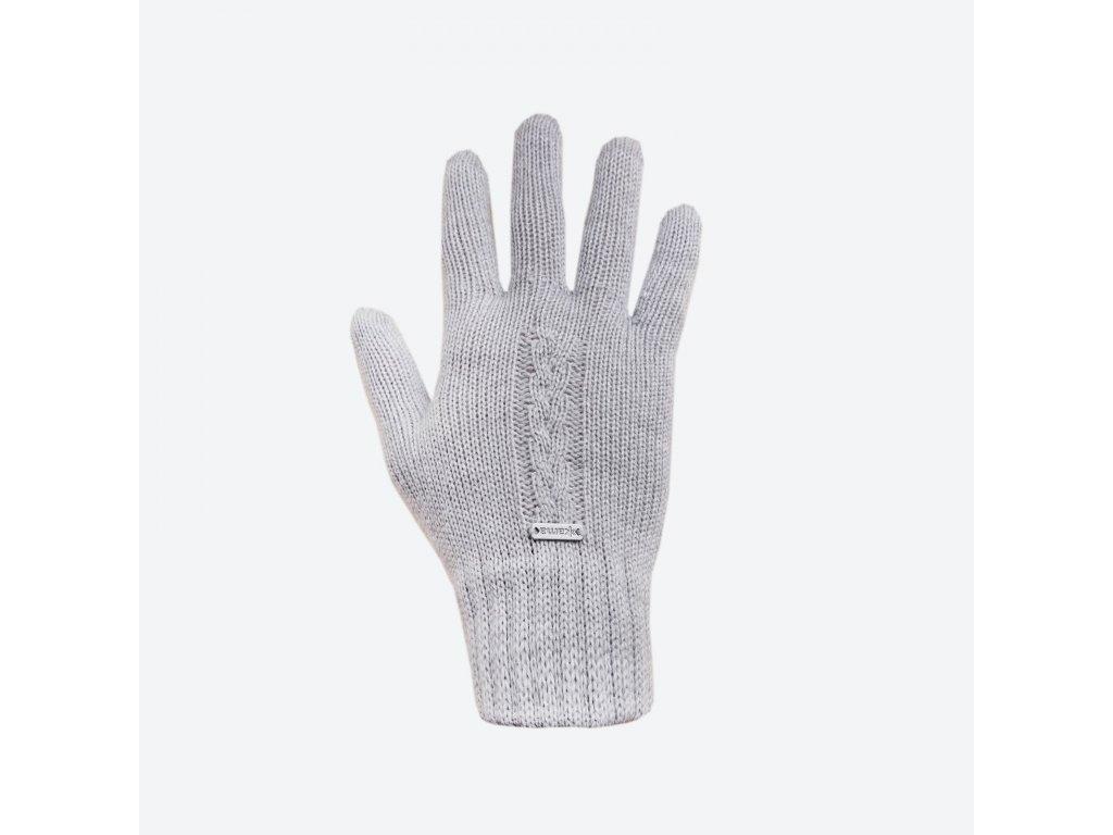 Pletené Merino rukavice Kama R103, šedá