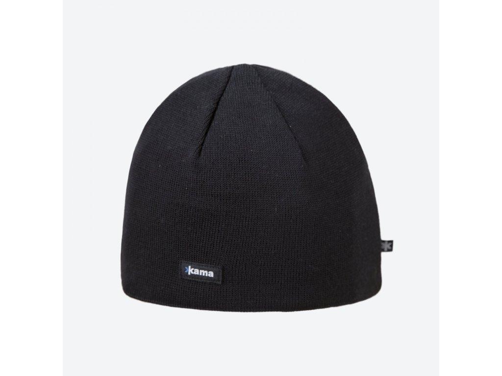 Pletená Merino čepice Kama A02, černá