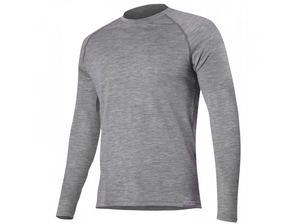 Lasting pánské merino triko ATAR šedé