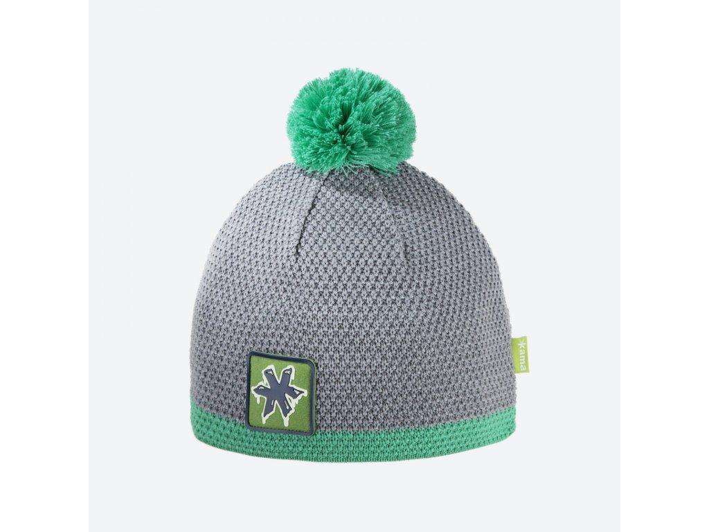 Pletená čepice Kamakadze K55, barva zelená