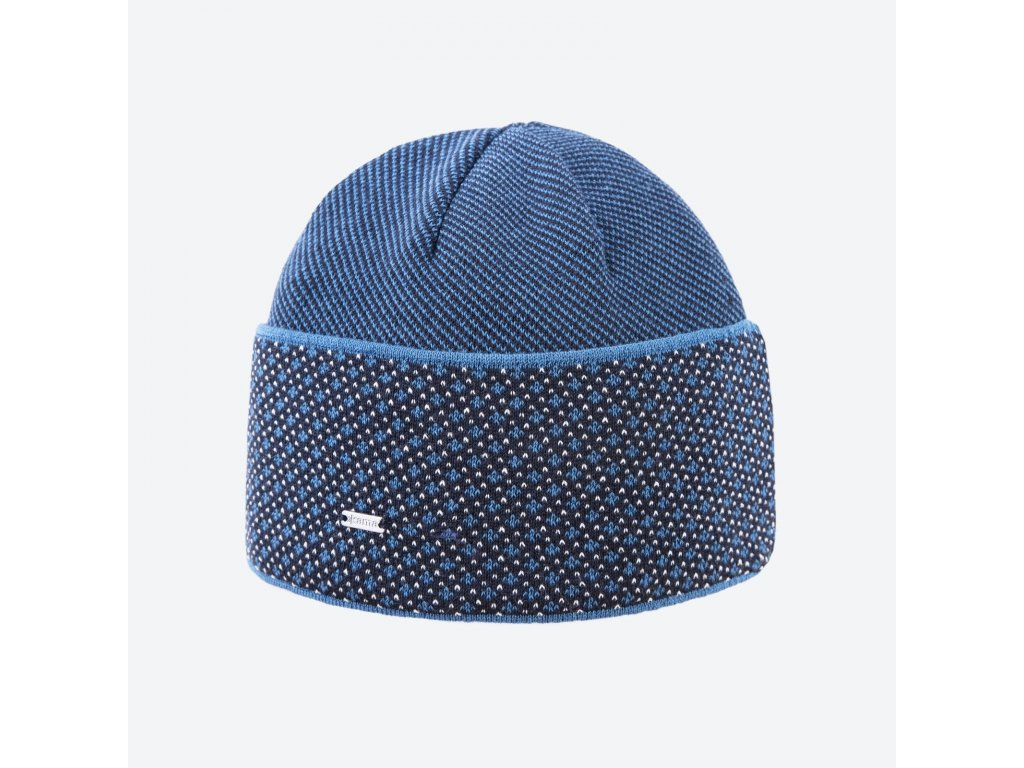 Pletená čepice Kama A131, barva modrá