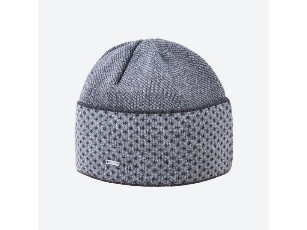 Pletená čepice Kama A131, barva šedá