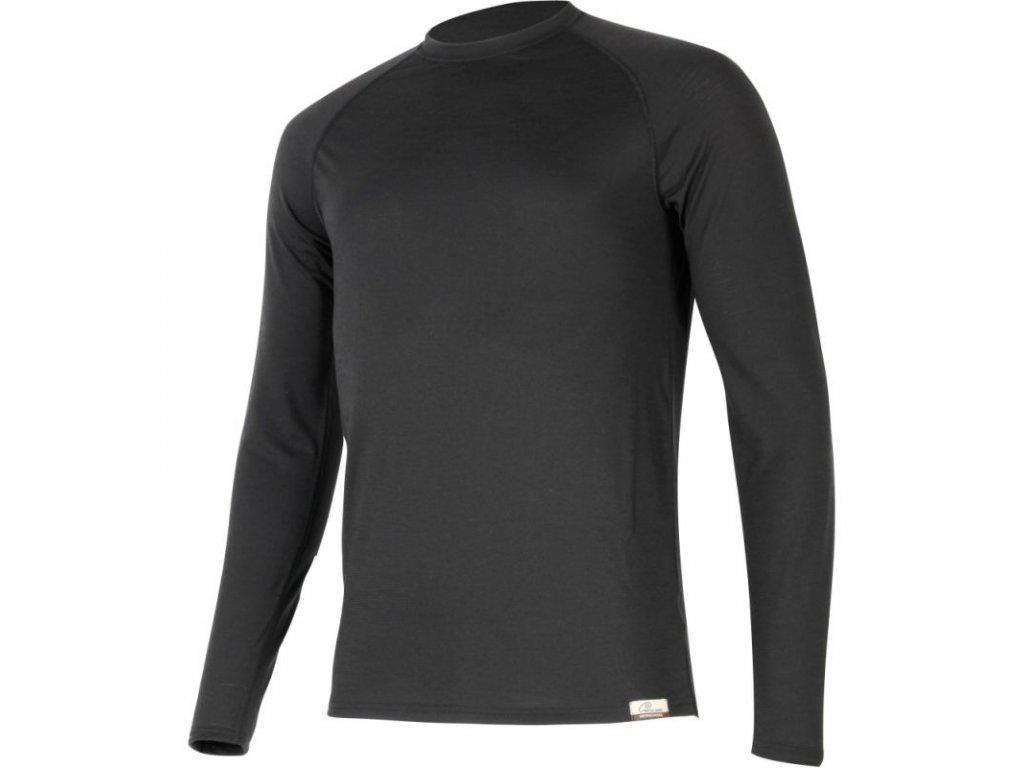 Lasting pánské merino triko ATAR černé