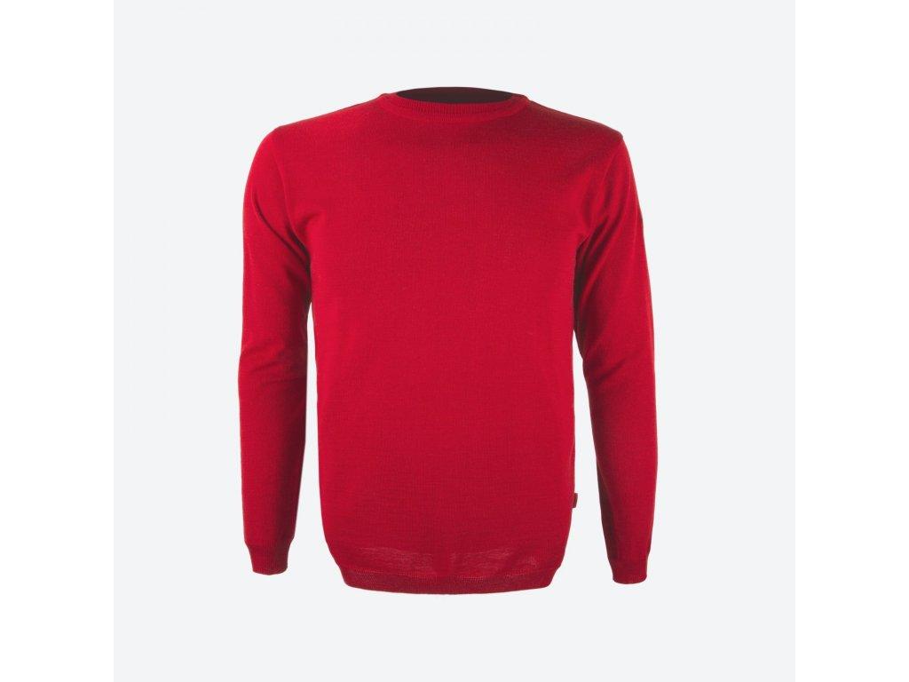 Merino svetr Kama 4101, červená