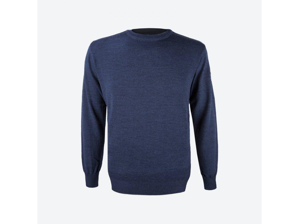 Pánský merino svetr Kama 4101, modrá