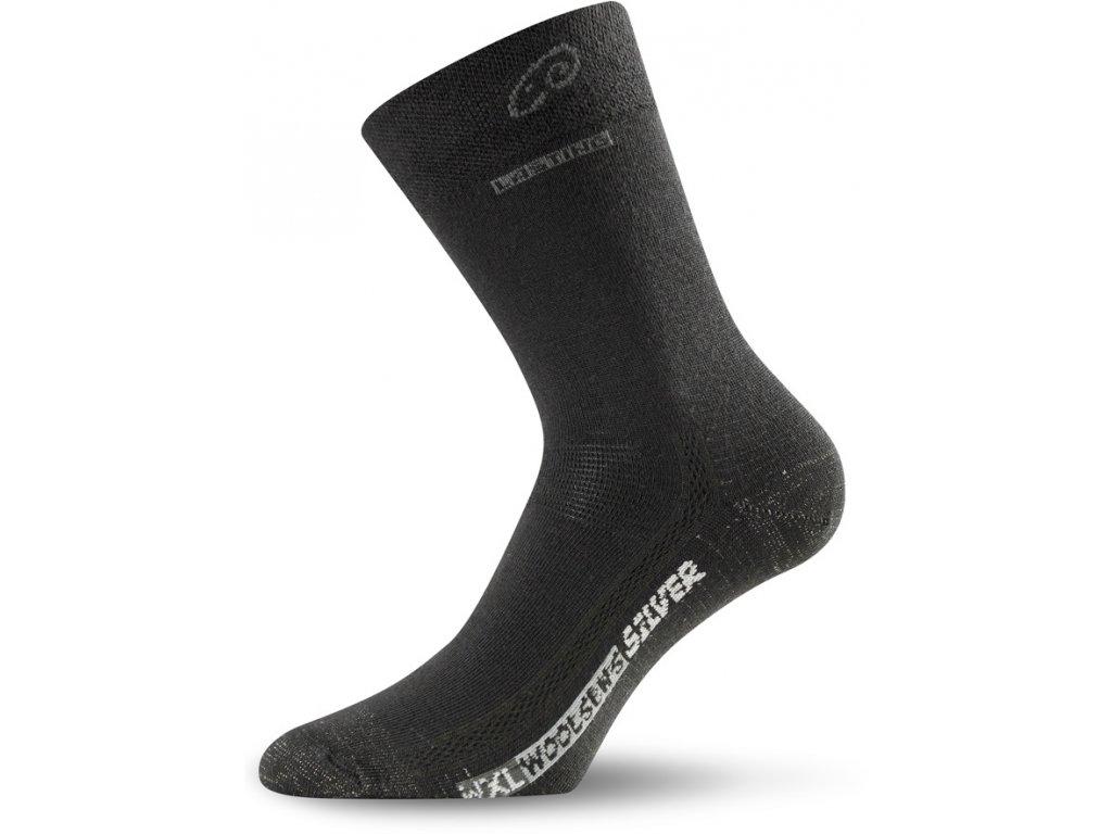 Lasting merino ponožky WXL černé