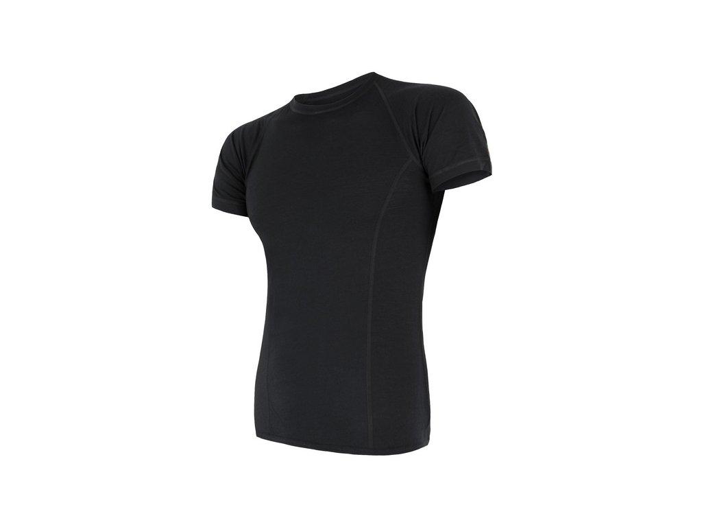 SENSOR MERINO AIR pánské triko kr.rukáv černá