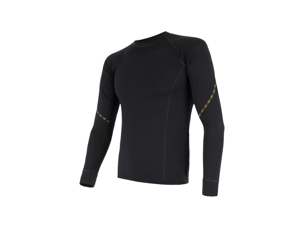 SENSOR MERINO AIR pánské triko dl.rukáv černá