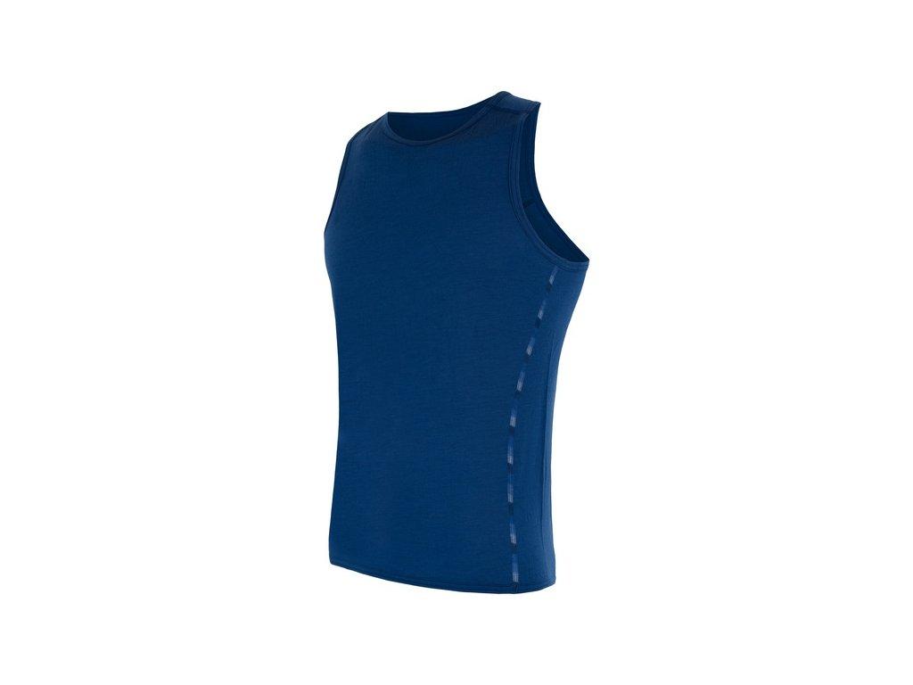 SENSOR MERINO AIR pánské triko bez rukávu tm.modrá