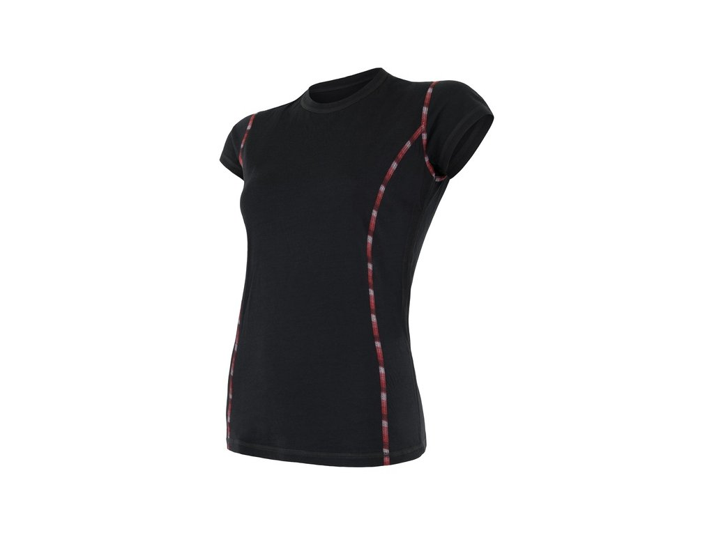 SENSOR MERINO AIR dámské triko kr.rukáv černá