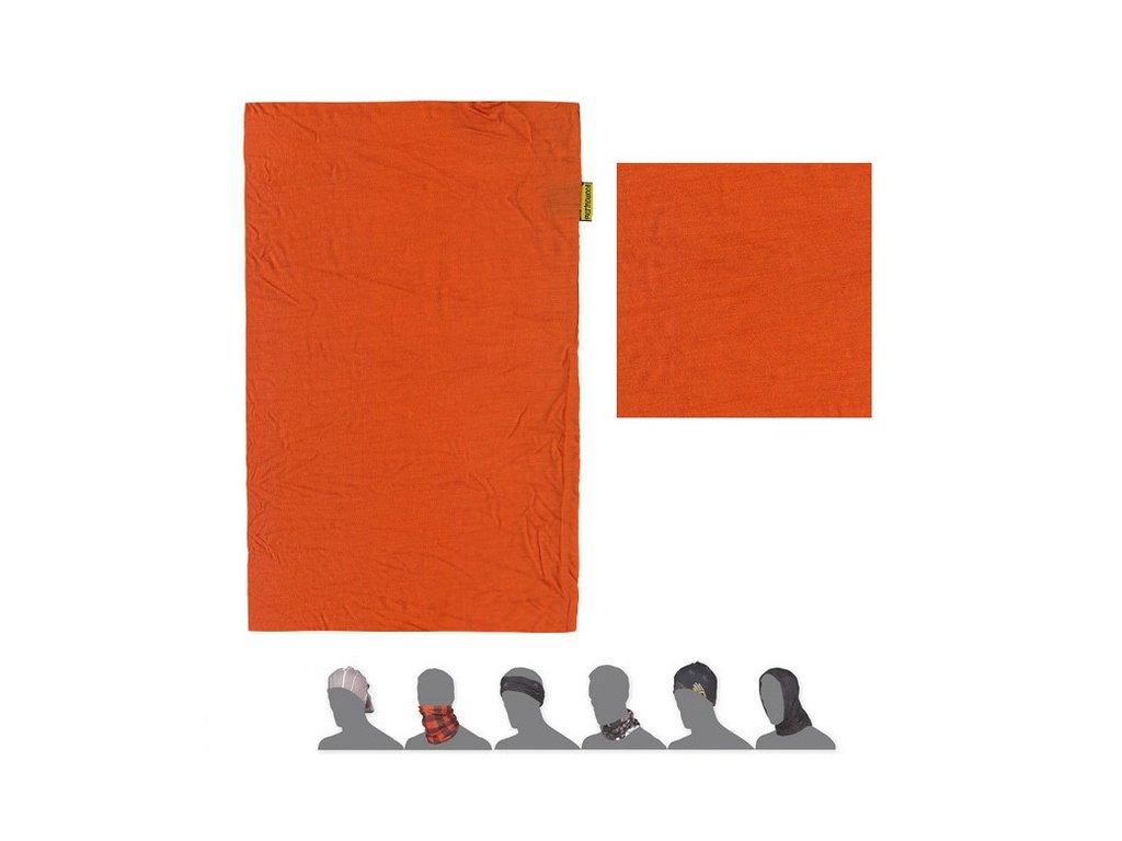 SENSOR TUBE MERINO WOOL multifunkční šátek oranžový