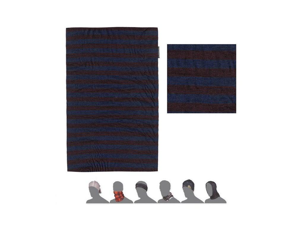 SENSOR TUBE MERINO WOOL multifunkční šátek modrý & vínový